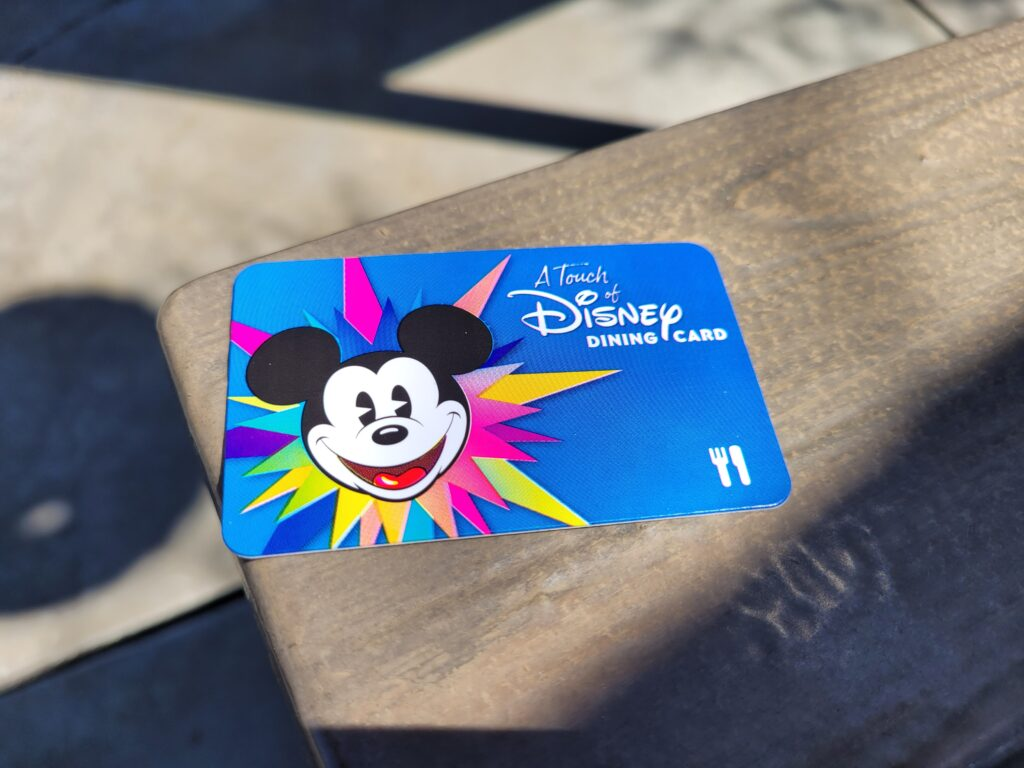 A Touch of Disney $25 Dining Card