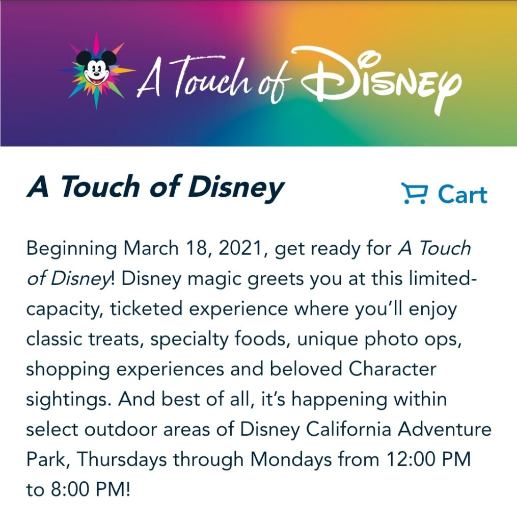 A Touch of Disney Ticket Store
