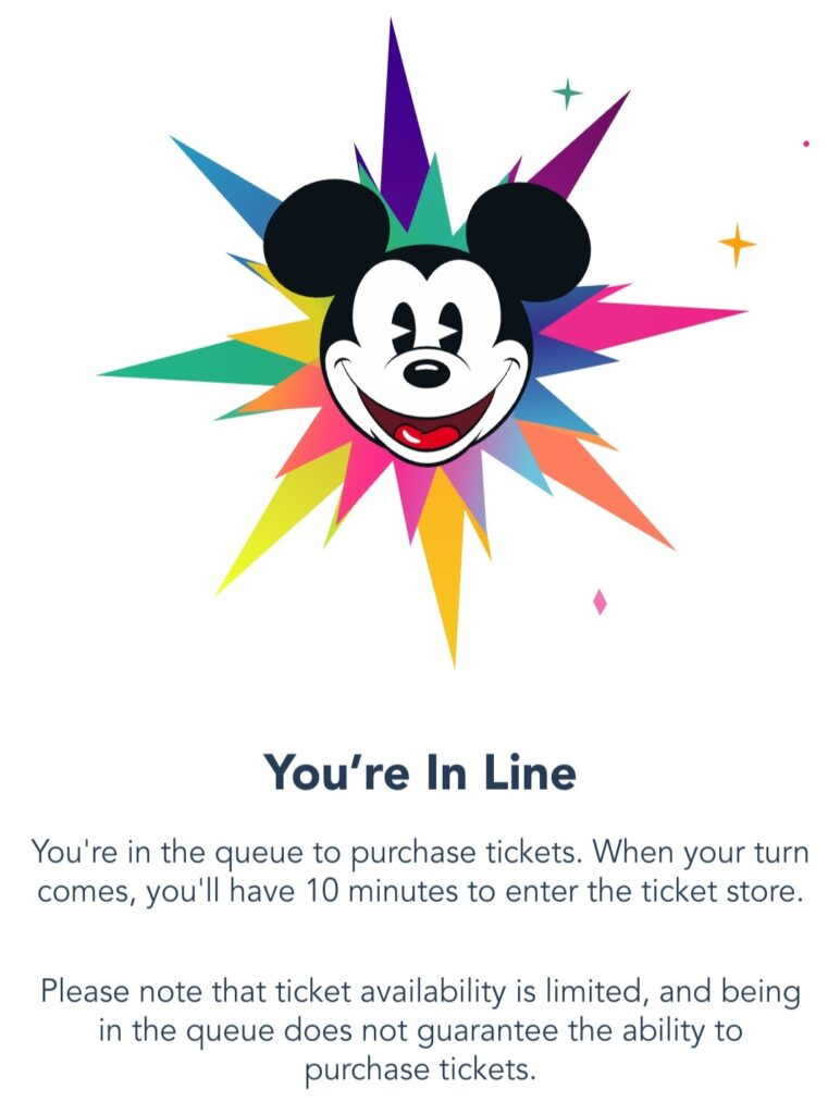 A Touch of Disney Virtual Queue