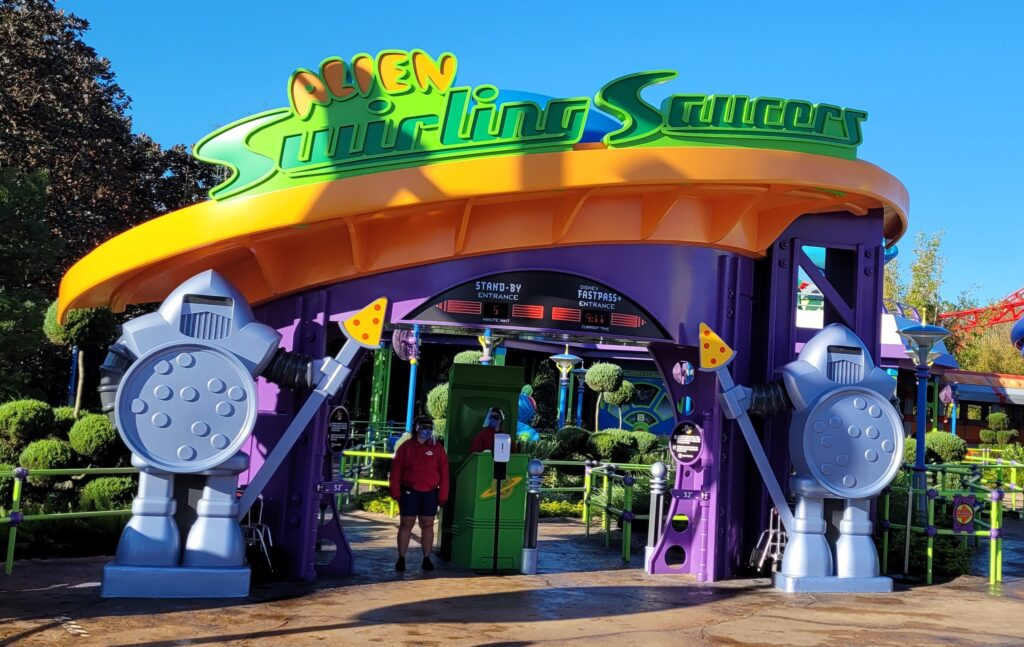 Alien Swirling Saucers Sign