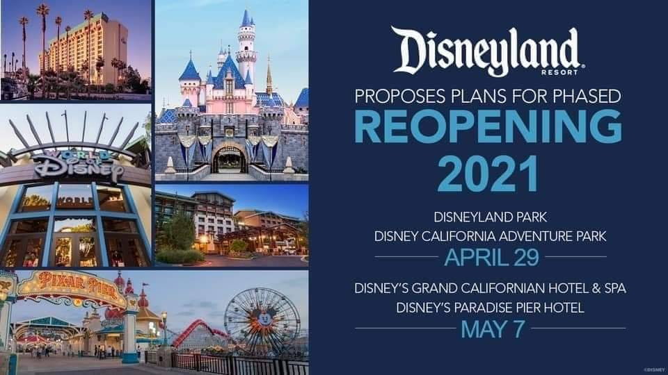 Disneyland Reopening April 29