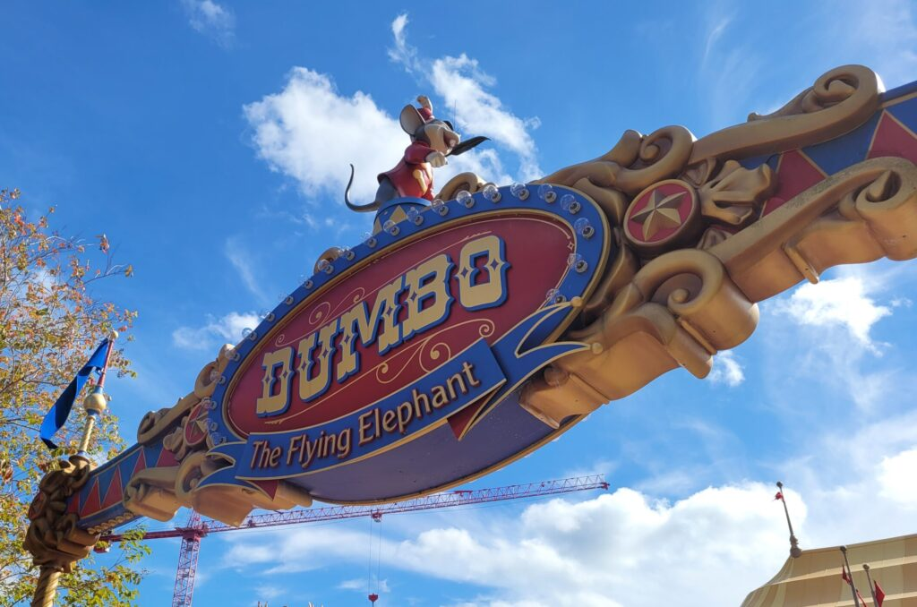 Dumbo the Flying Elephant Sign