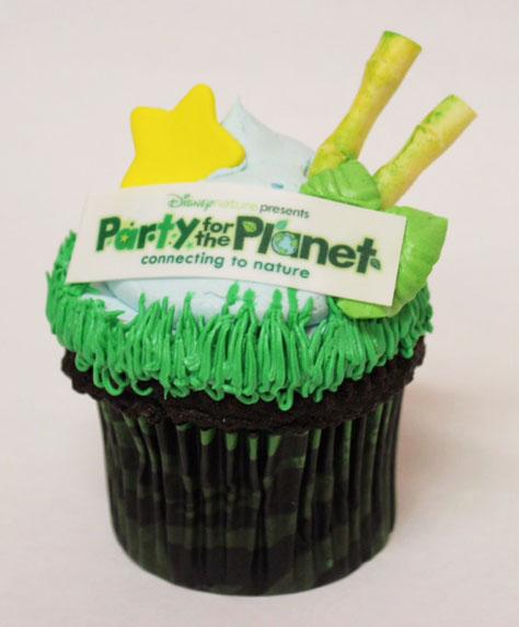 Earth Day Cupcake at Animal Kingdom