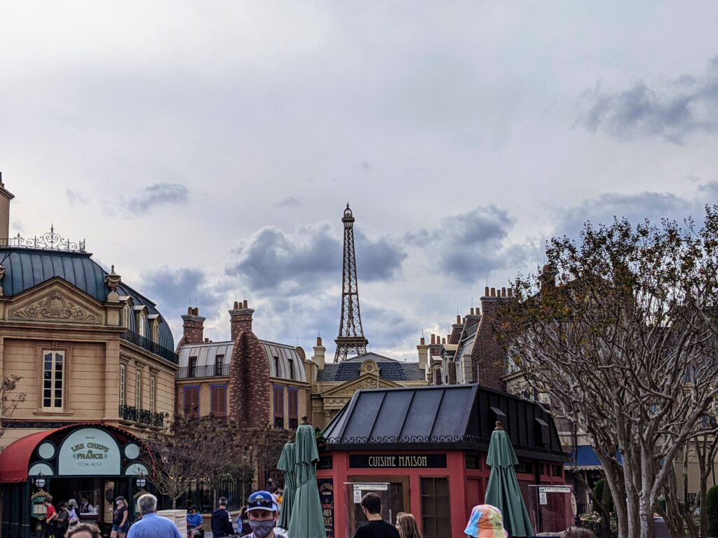 Eiffel Tower in France Pavilion