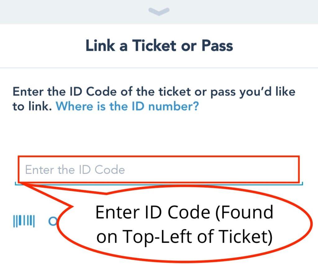 Enter ID Code Into Text Box