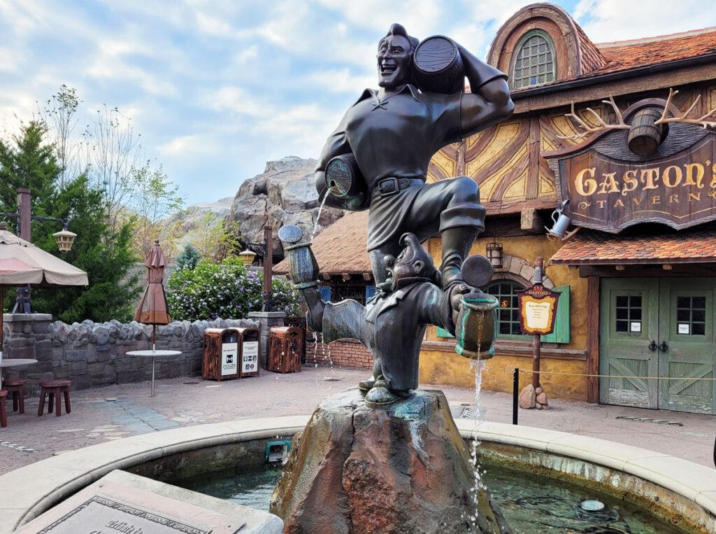 Gaston's Tavern Statue