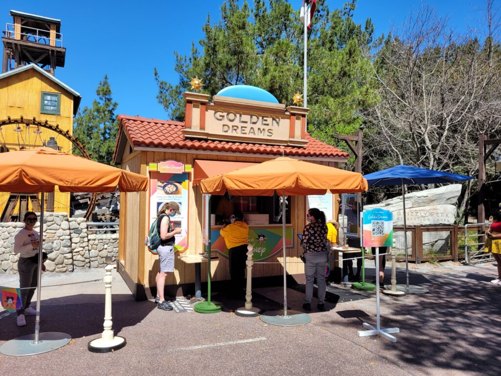 Golden Dreams Booth from A Touch of Disney