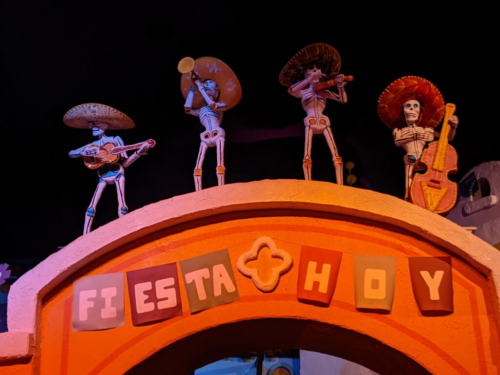 Inside the Gran Fiesta Tour Attraction at Epcot