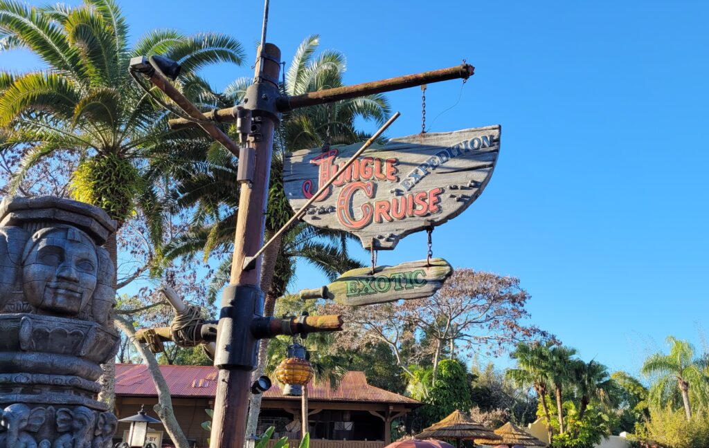 Jungle Cruise Sign At Magic Kingdom
