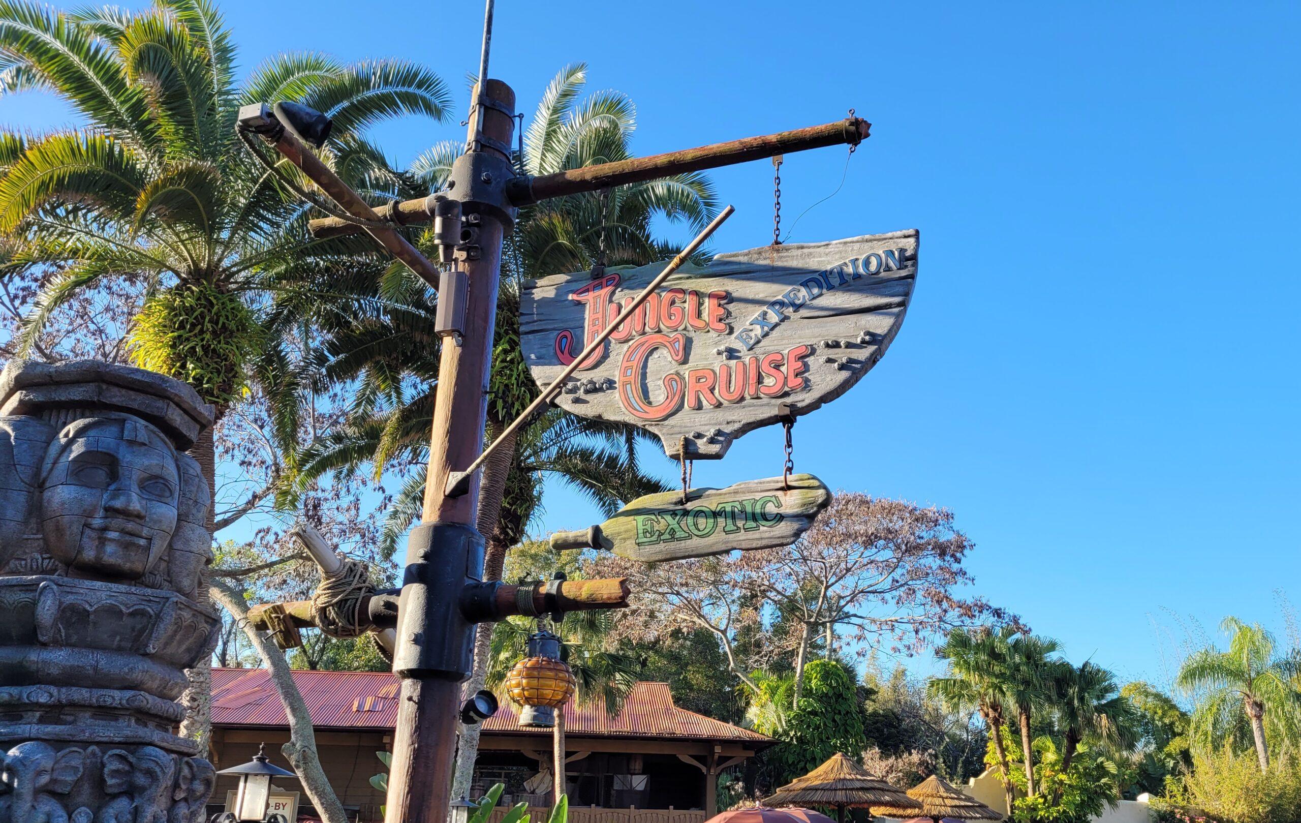 Jungle Cruise Sign At Magic Kingdom