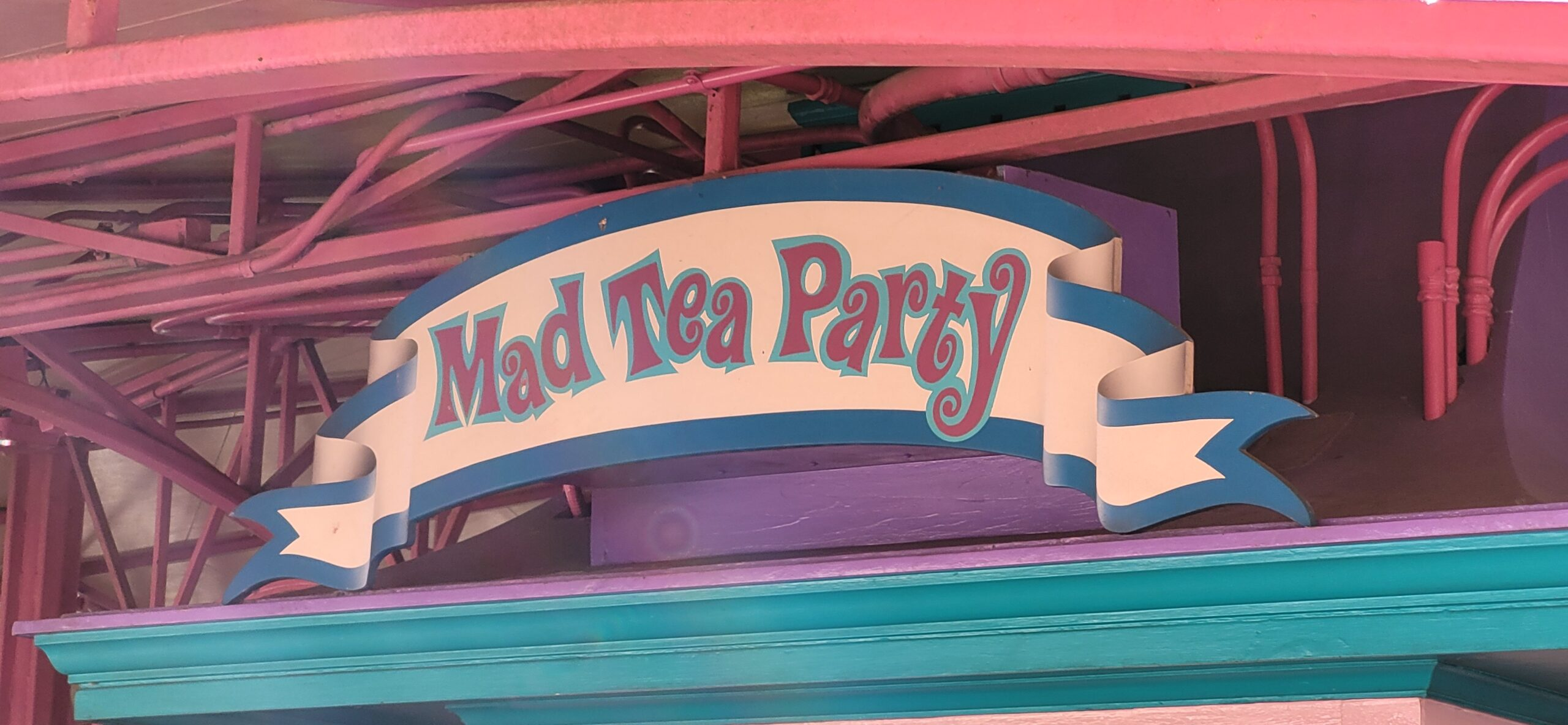 Mad Tea Party Alternate Sign