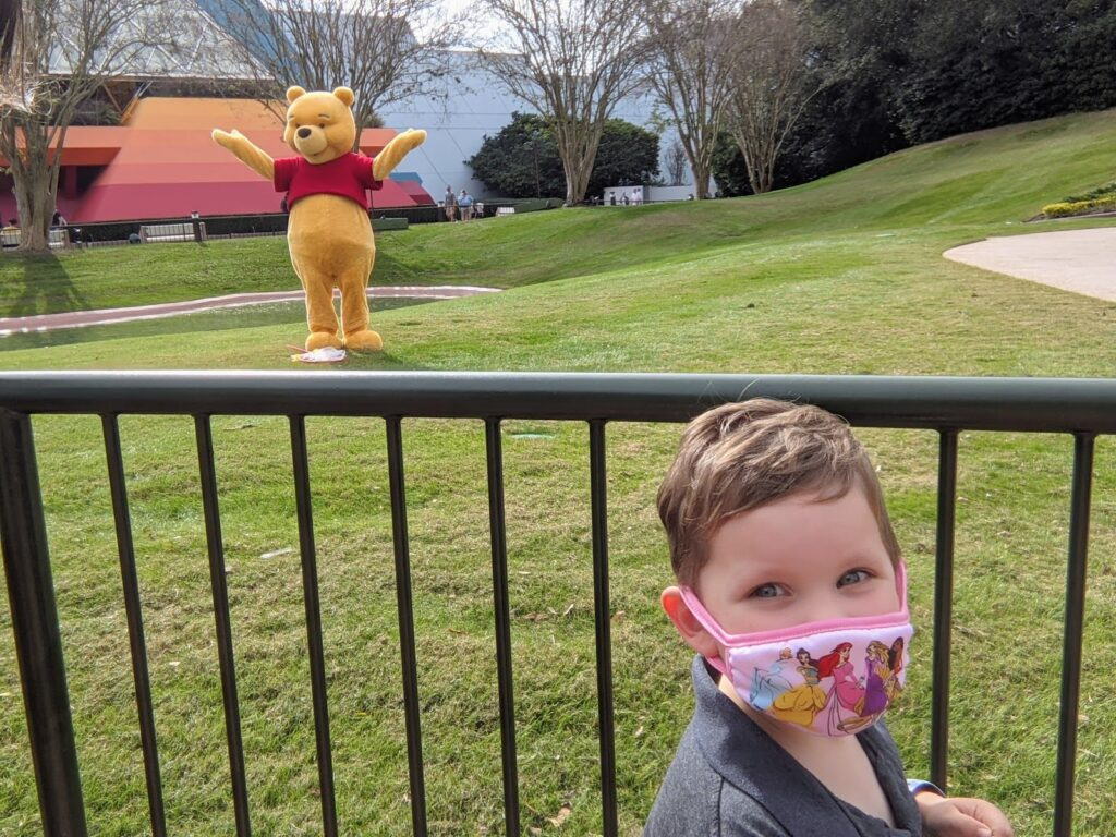 Lincoln Meeting Winnie the Pooh at Epcot