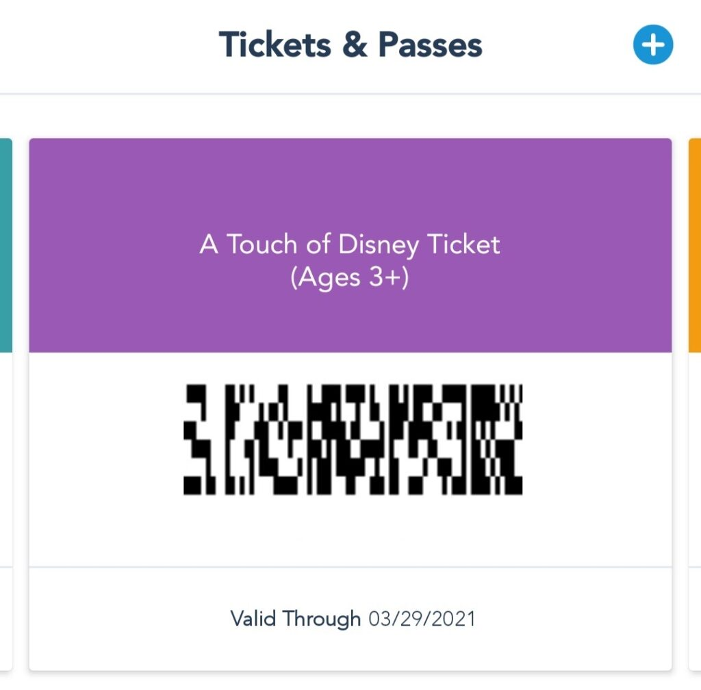 Review A Touch of Disney Ticket Successfully Added to App