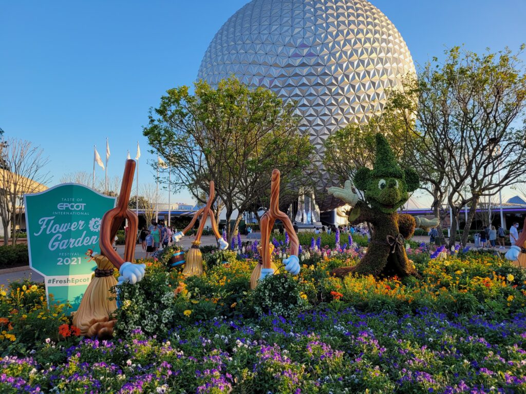 Sorcerer Mickey Mouse, Brooms Topiary