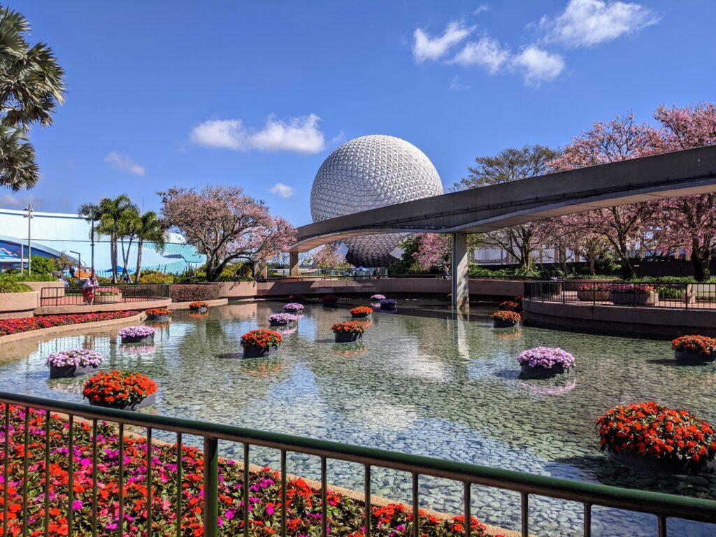 Spaceship Earth During Flower & Garden Festival 2021