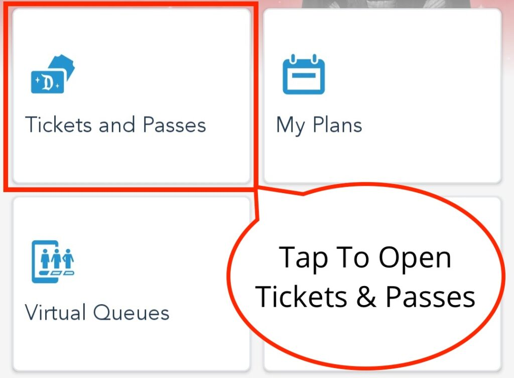 Tap Tickets and Passes to Start Adding Your Tickets