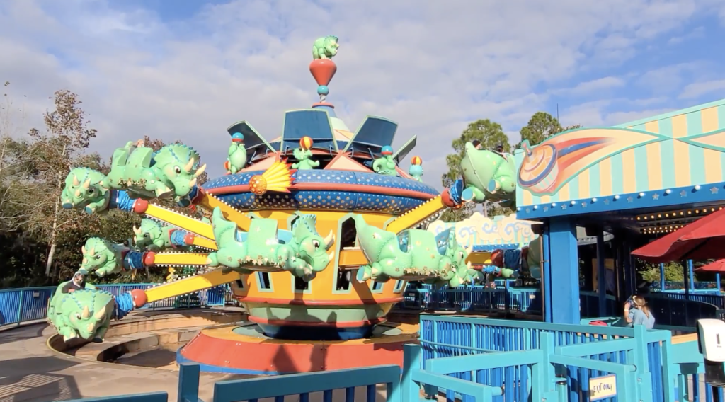 TriceraTop Spin Attraction at Animal Kingdom
