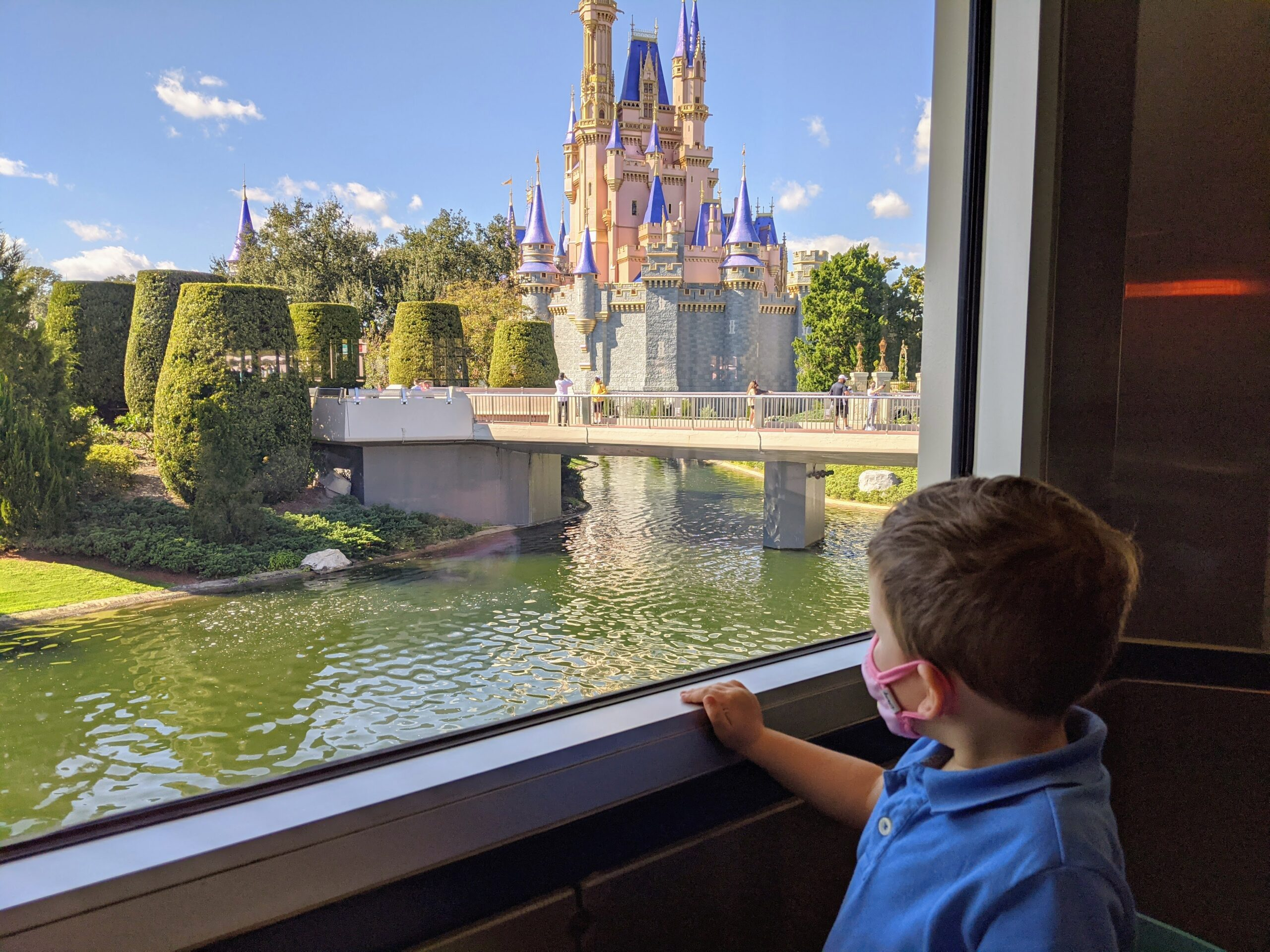 View of Cinderella's Castle from Cosmic Ray's Starlight Cafe