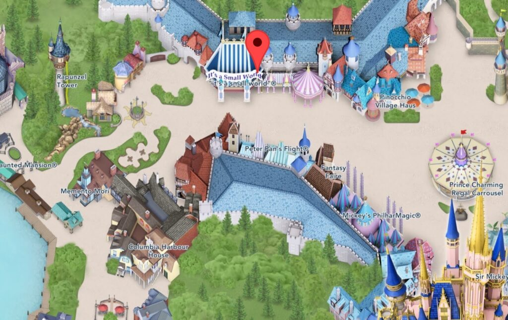 Where to Find it's a small world at Magic Kingdom