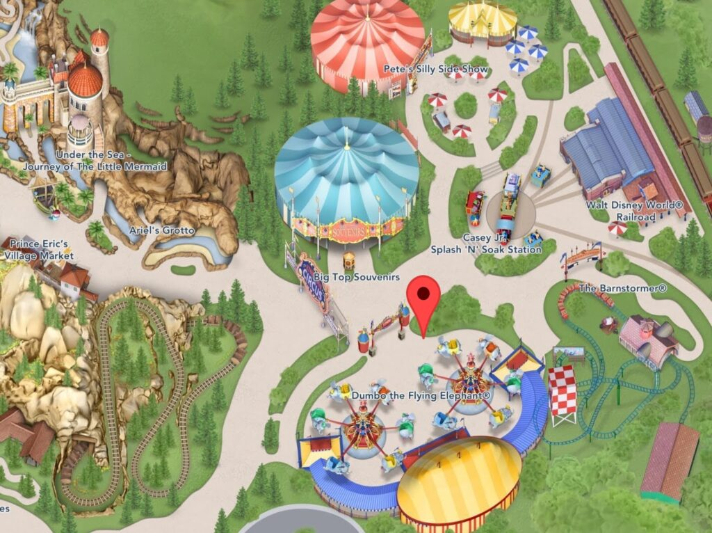 Where to Find Dumbo the Flying Elephant in Magic Kingdom