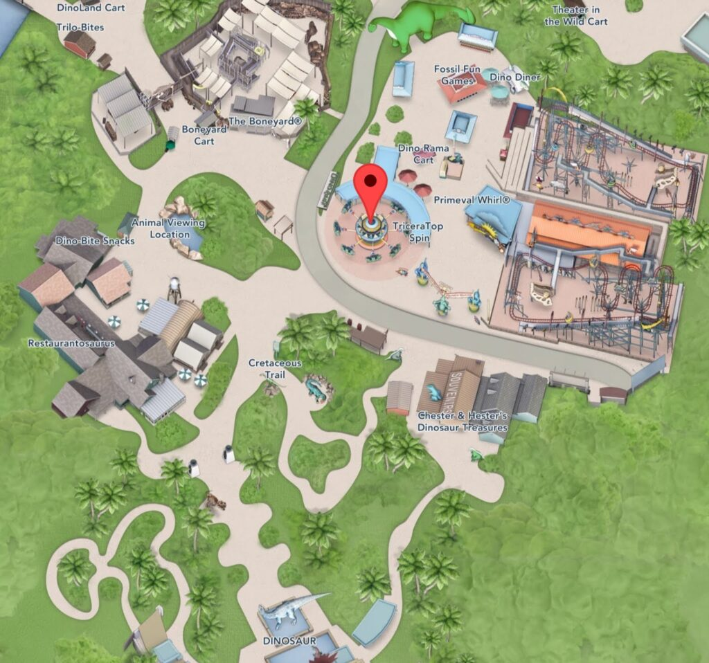 Where to Find TriceraTop Spin in Animal Kingdom