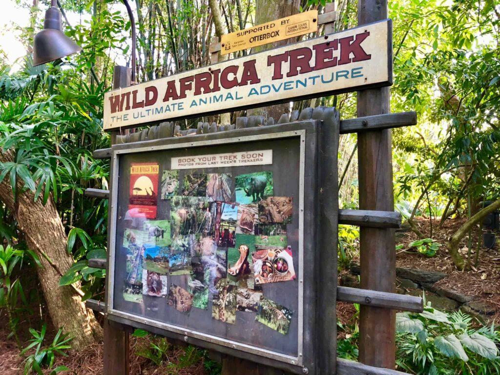 Wild Africa Trek Sign - The Ultimate Animal Adventure