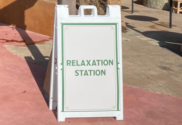 Look For Relaxation Station Signs at Disney World