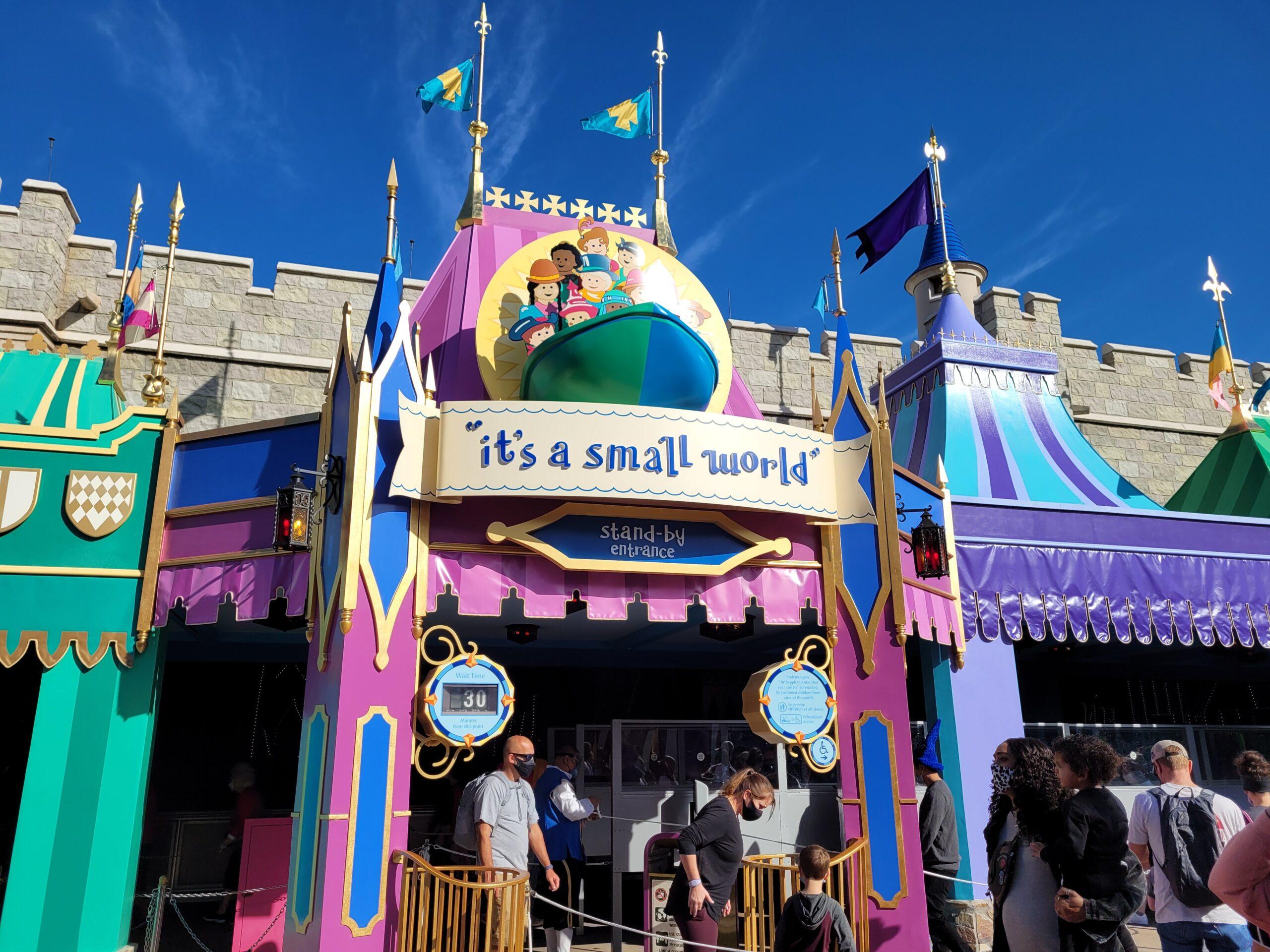 it's a small world Sign at Magic Kingdom