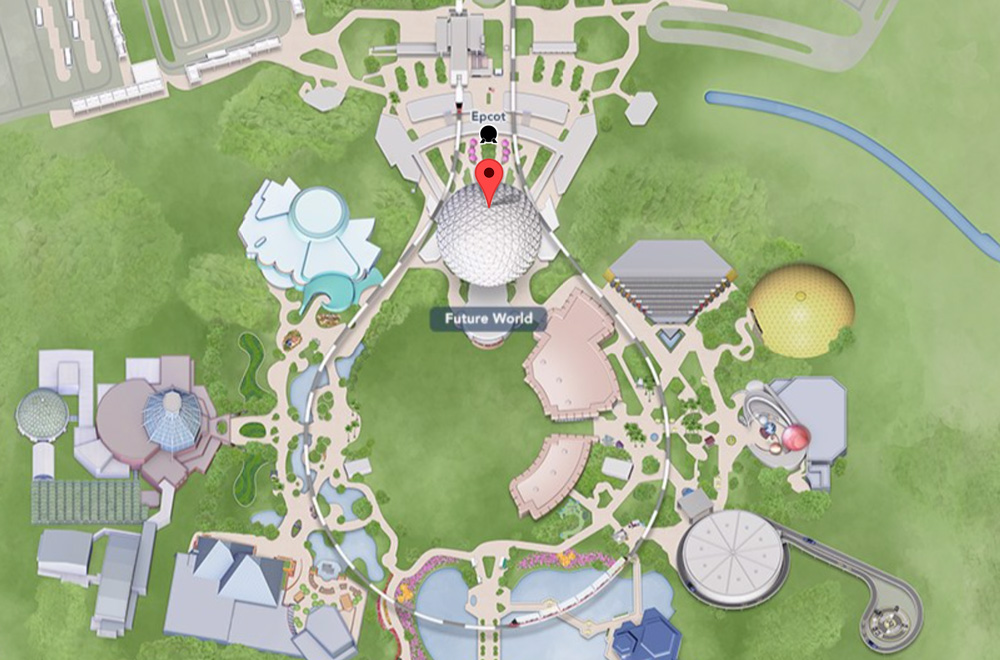 Spaceship Earth, EPCOT location map
