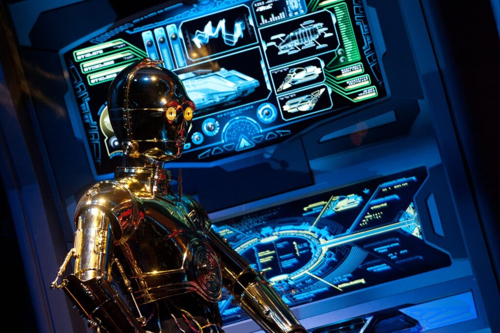 C3P-0 on Star Tours attraction in Disney's Hollywood Studios