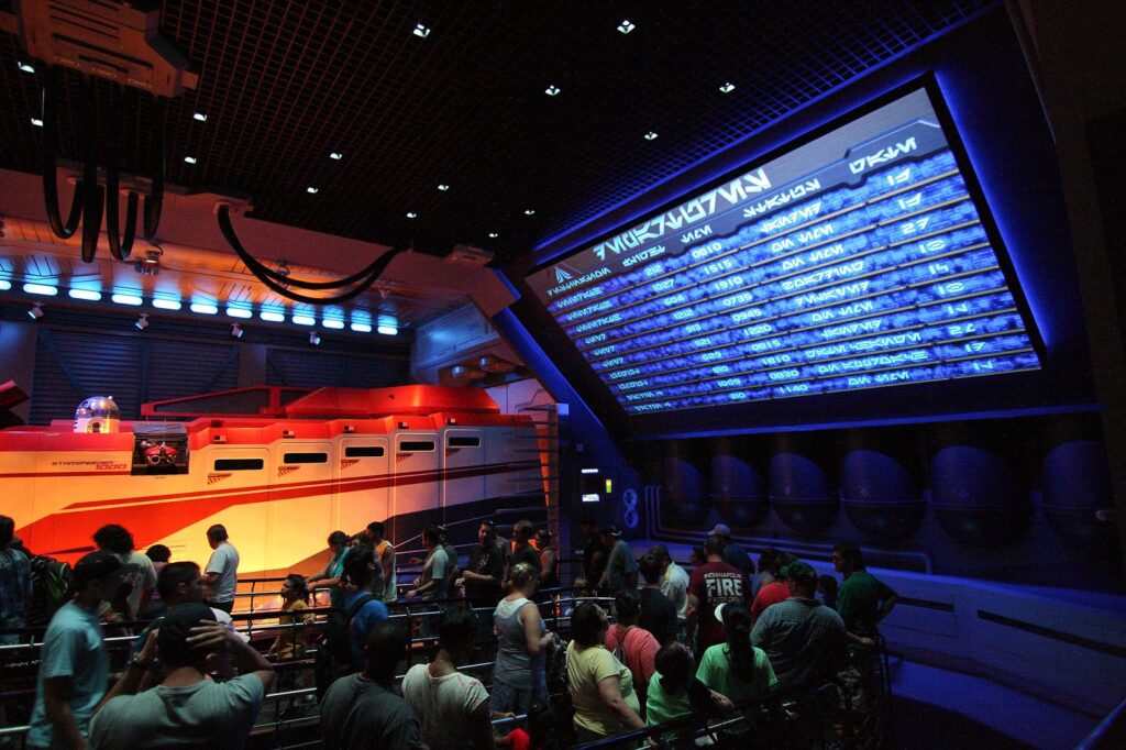 Star Tours - The Adventure Continues queue at Disney's Hollywood Studios