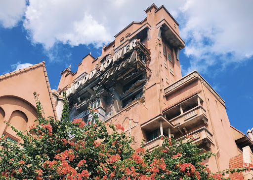 Close up view of Tower of Terror at Disney's Hollywood Studios