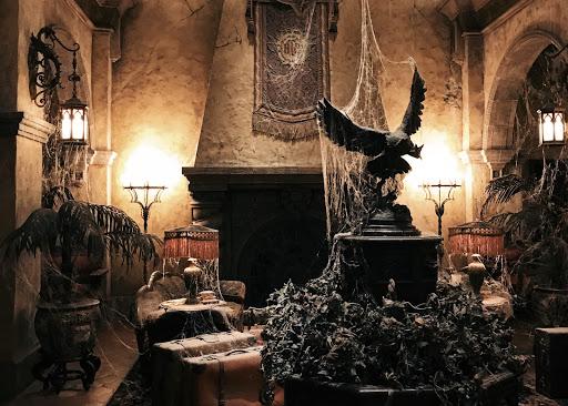 Interior decor of Tower of Terror at Disney World