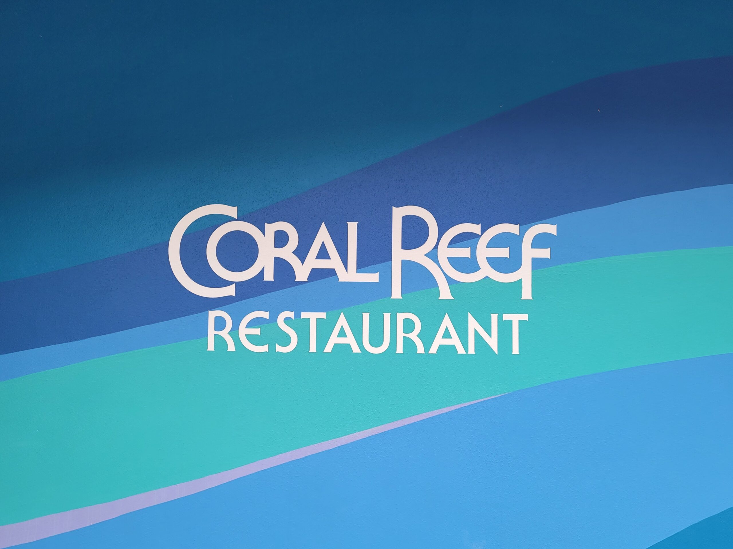 Coral Reef Restaurant Sign