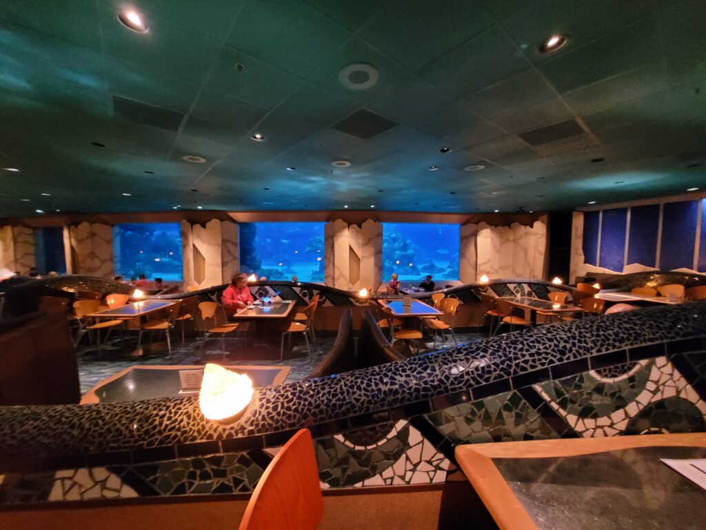 Dining Area with Viewing Tanks at Coral Reef Restaurant