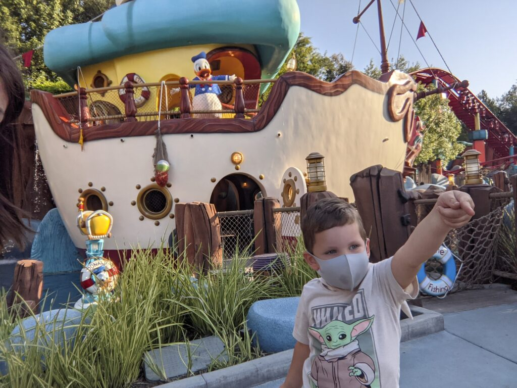 Donald Duck Character Meet & Greet at Donald's Boat in Mickey's ToonTown