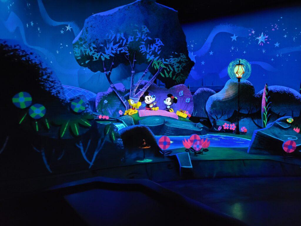 Pluto, Mickey, and Minnie Inside Runaway Railway