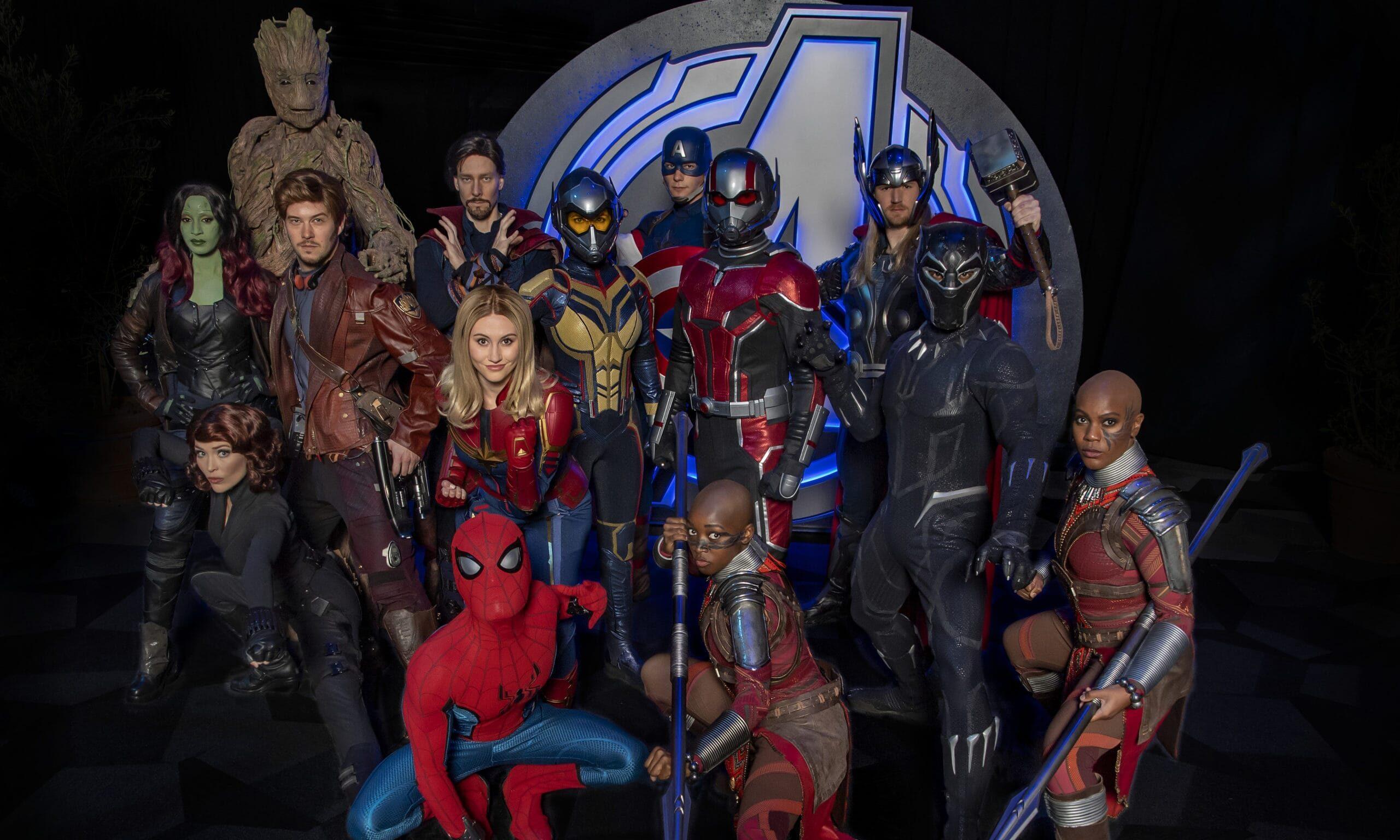 Marvel Characters from Avengers Campus at Disney California Adventure Park (Joshua Sudock/Disneyland Resort)
