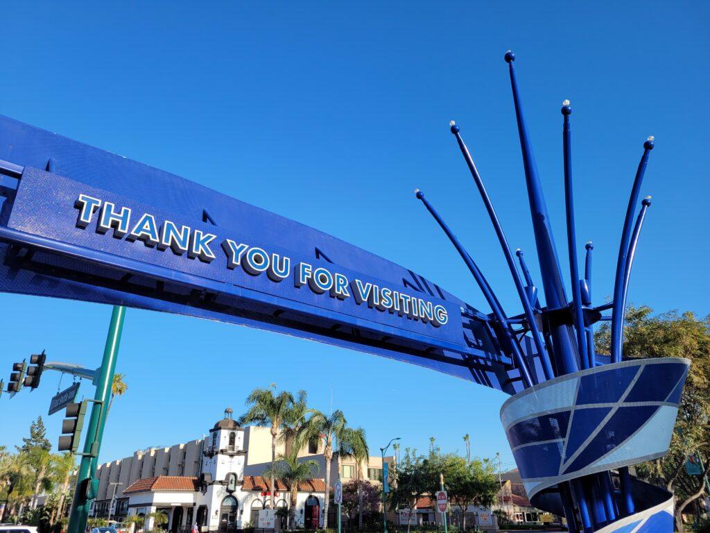 Thank You For Visiting Sign - Disneyland Entrance