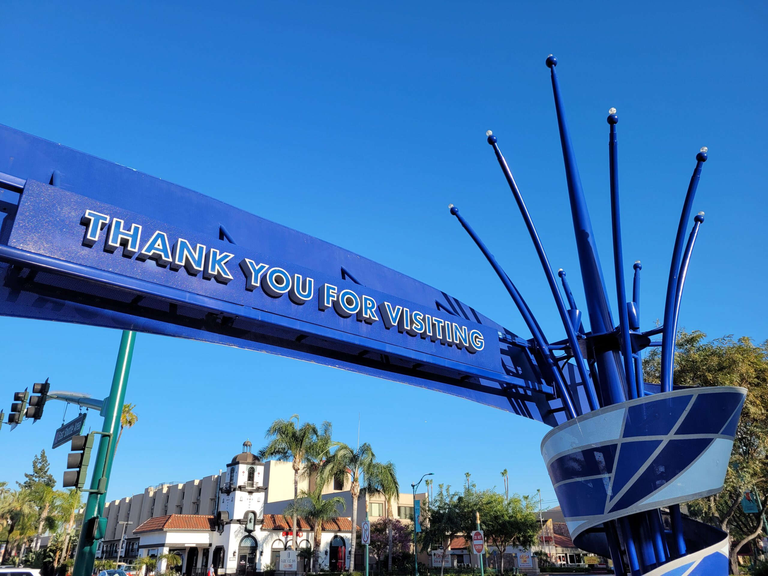 Thank You For Visiting Sign - Disneyland Entrance
