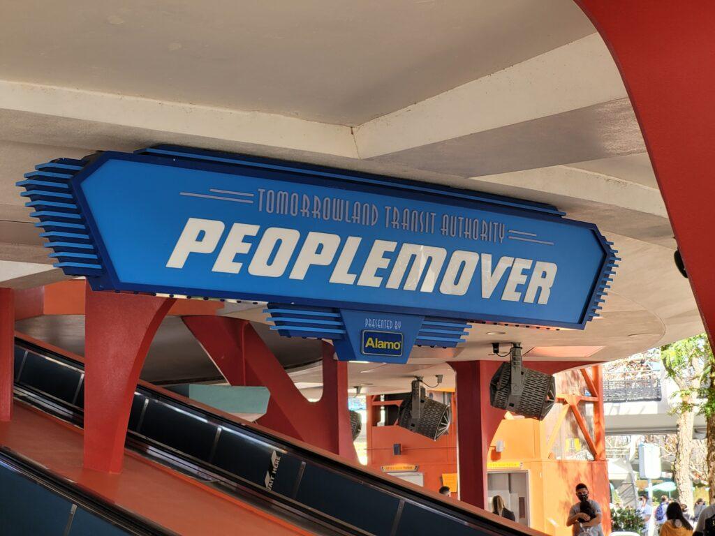 PeopleMover Sign in Tomorrowland at Magic Kingdom