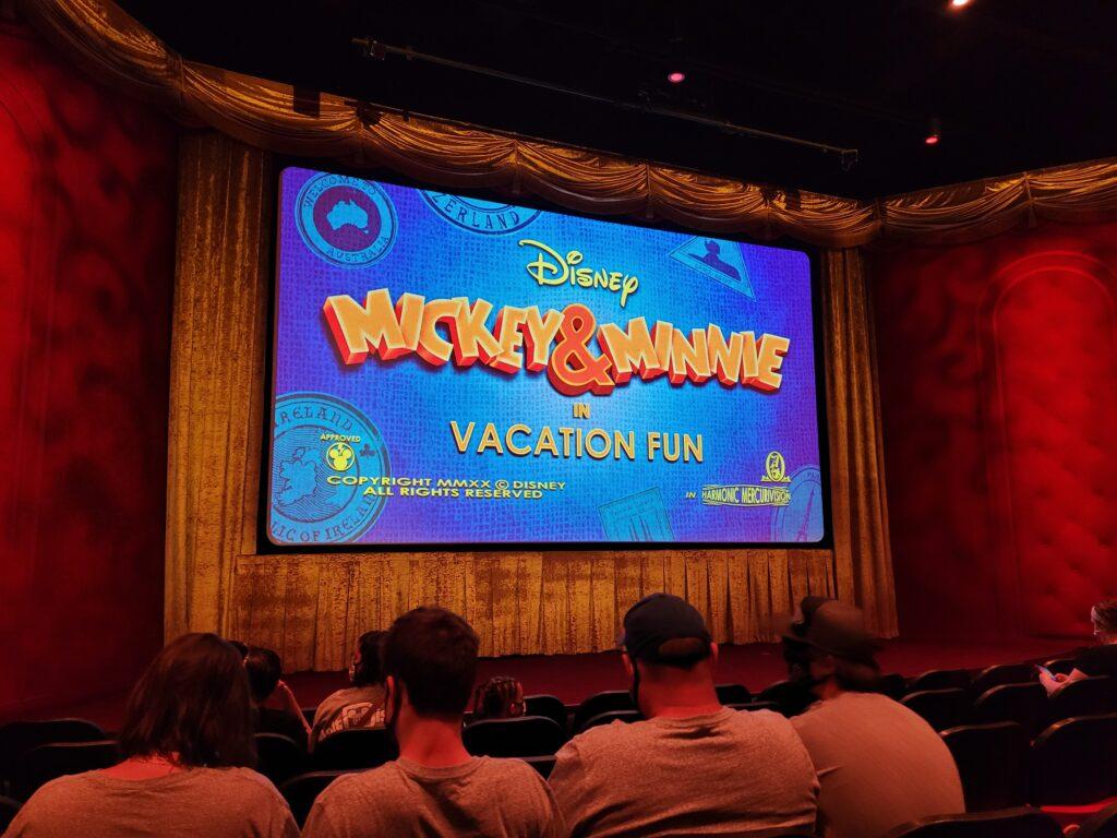 Vacation Fun Movie Screen