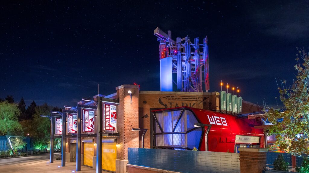 Webslingers Spiderman Attraction in Avengers Campus