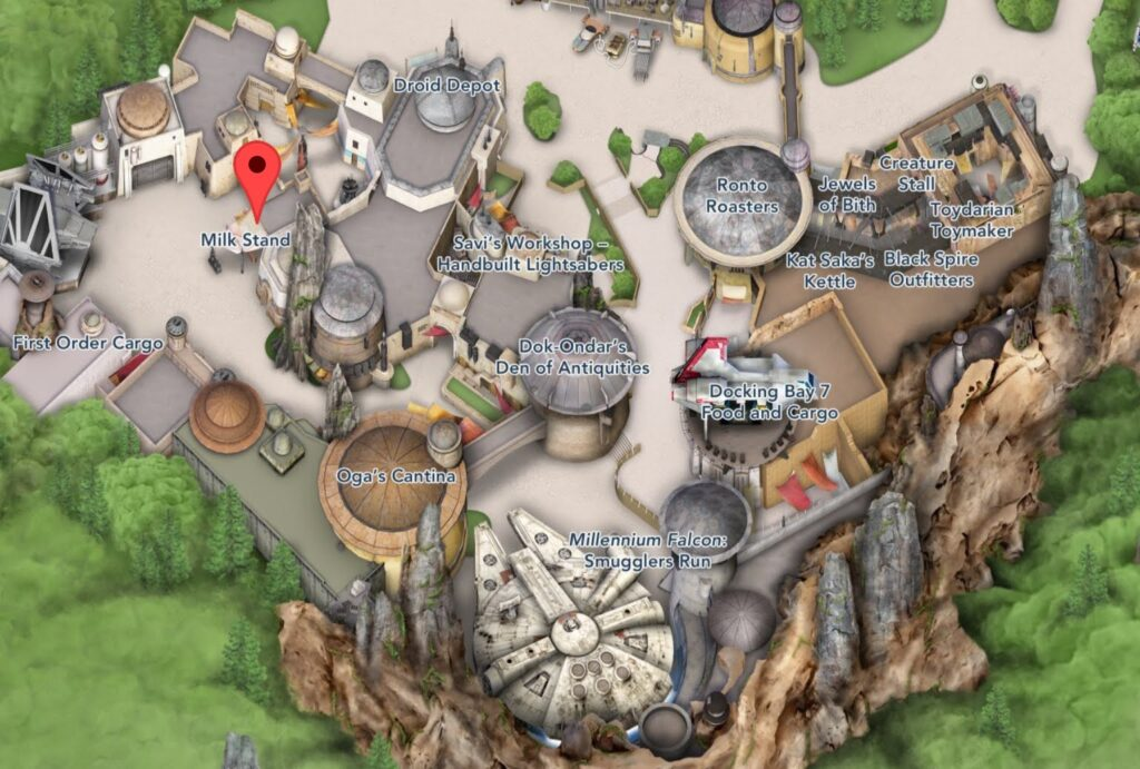 Where To Find The Milk Stand in Star Wars Galaxy's Edge - Hollywood Studios