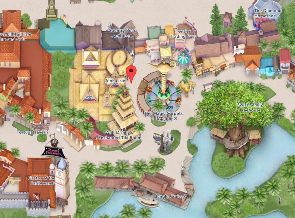 Where to Find Aloha Isle at Magic Kingdom