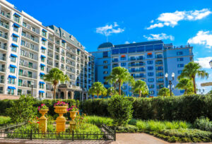 Gardens and exterior of DVC Riviera Resort