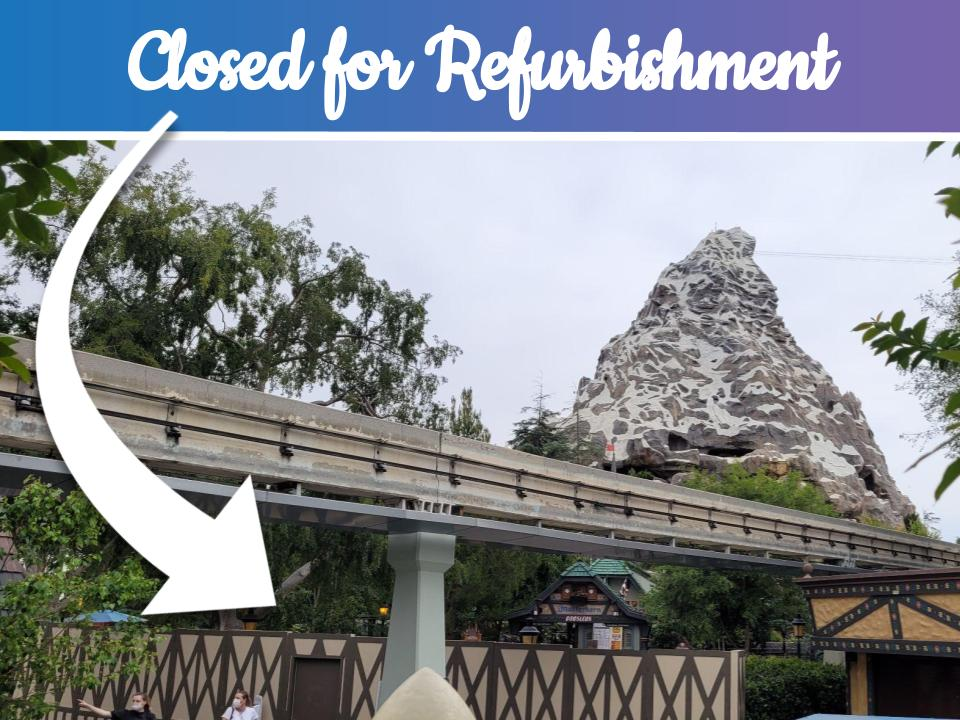 Attractions That Are Closed in Disney Parks Right Now