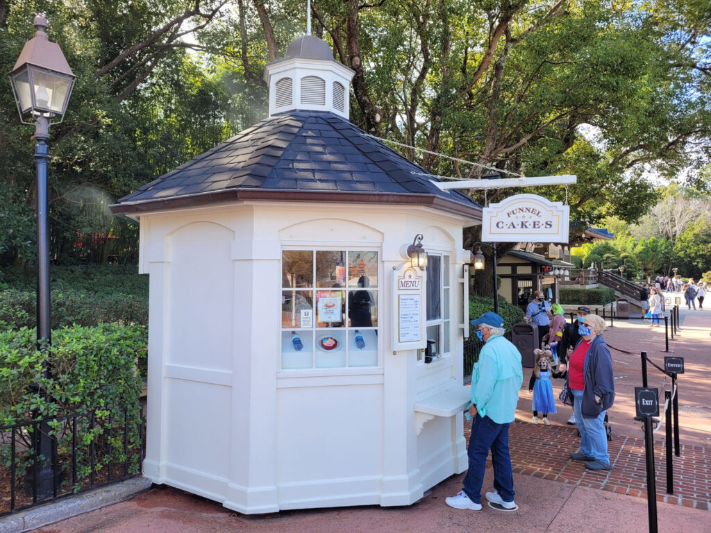 Funnel Cake Stand at EPCOT's American Pavilion - Center of World Showcase