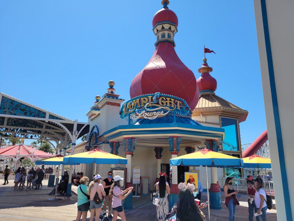Lamplight Lounge Sign in Pixar Pier at California Adventure