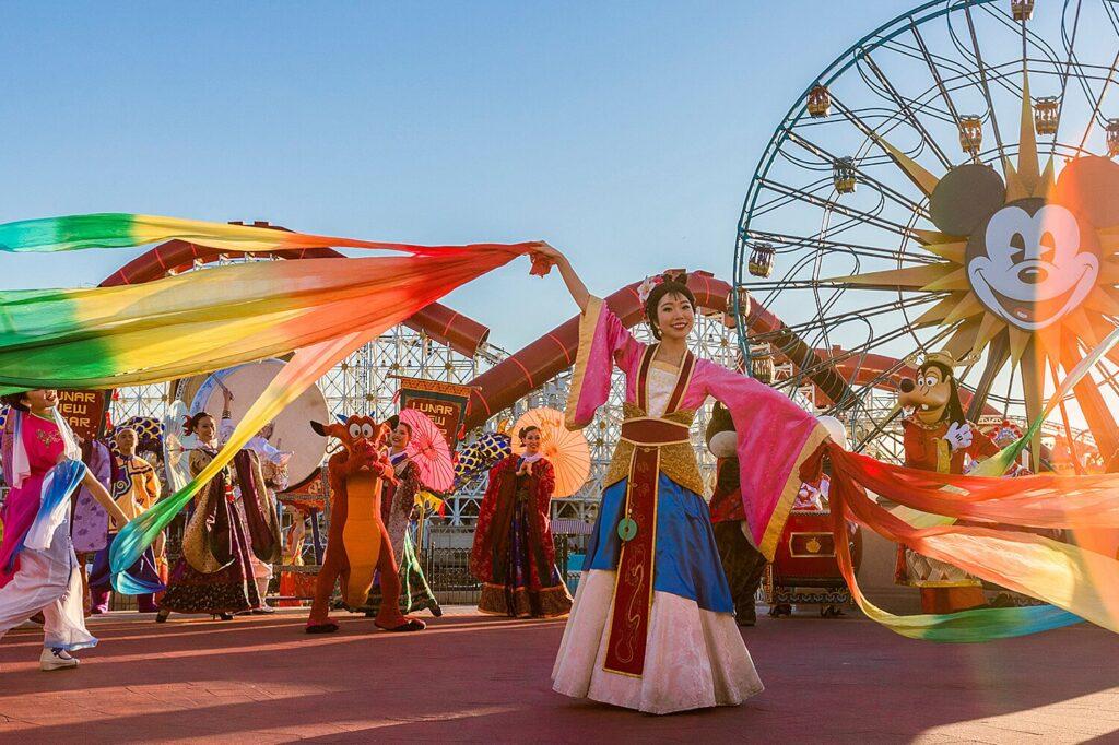 Mulan at Disneyland Theme Park